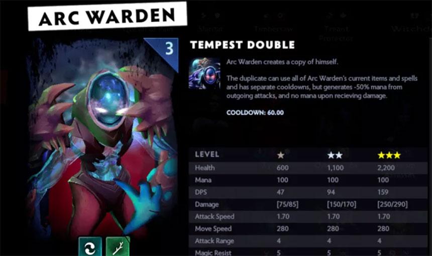 Dota 2: Arc Warden - opis, karakteristike i specifikacije