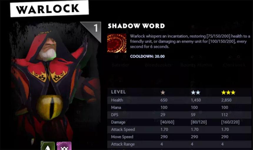 Dota 2: Warlock - opis, karakteristike i specifikacije