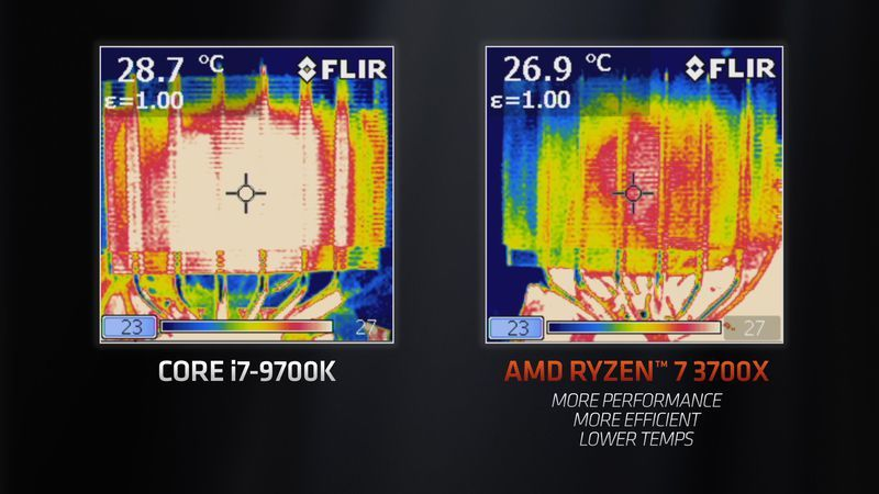 Infracrvene fotografije pokazuju da je Ryzen 3700x hladniji od i7-9700kjpg