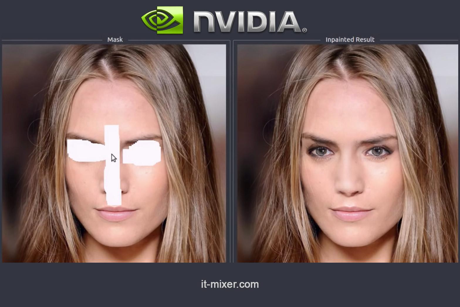 Nvidia AI rekonstrukcija fotografije