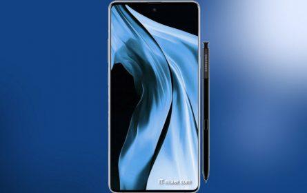 Samsung flegšip Galaxy Note 10 ilustracija