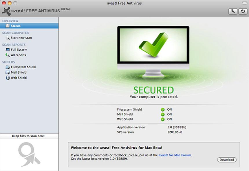 avast free antivirus for Mac