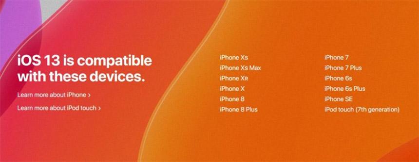 iOS 13 lista kompatabilnih uređaja