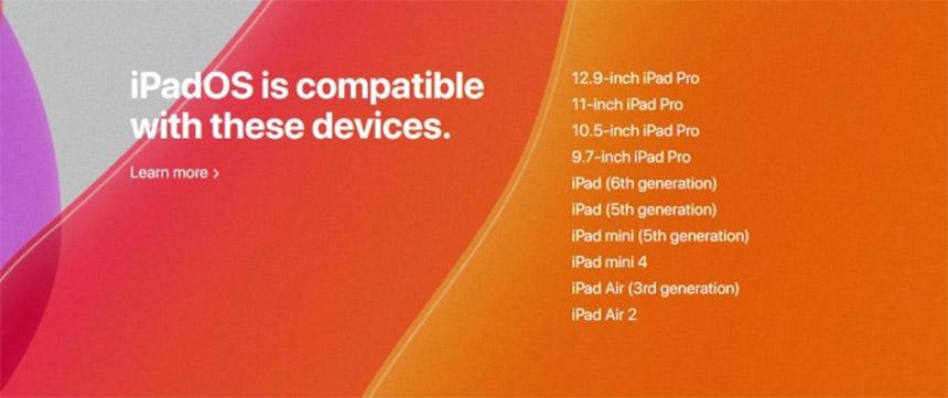 iPadOS lista kompatabilnih uređaja