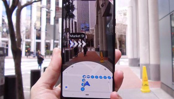 Google Maps AR opcija