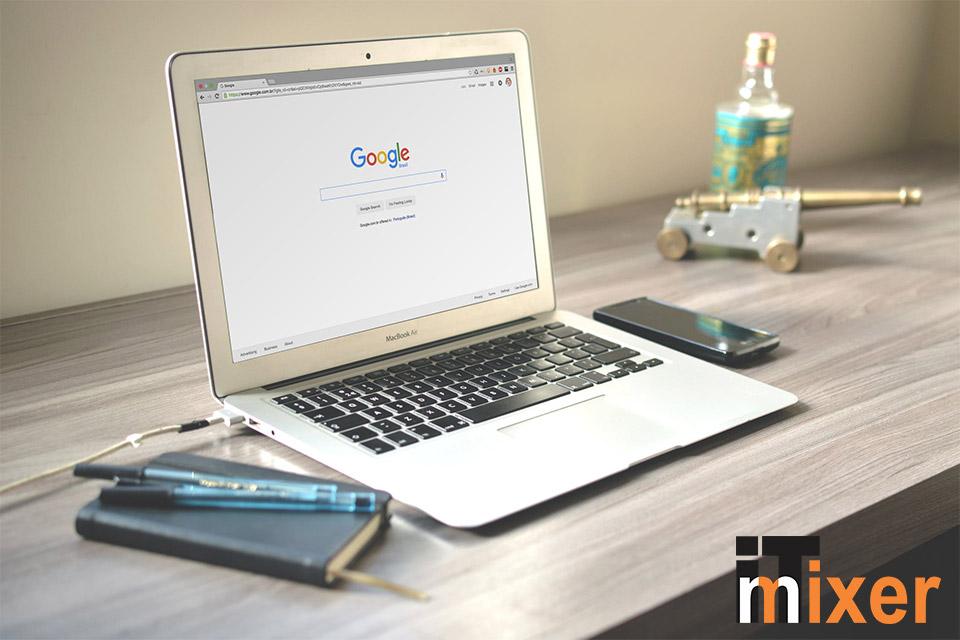 Google nalog na laptopu - ilustracija