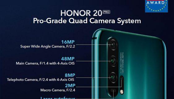 Honor 20 PRO osvojio nagradu EISA Lifestyle Smartphone
