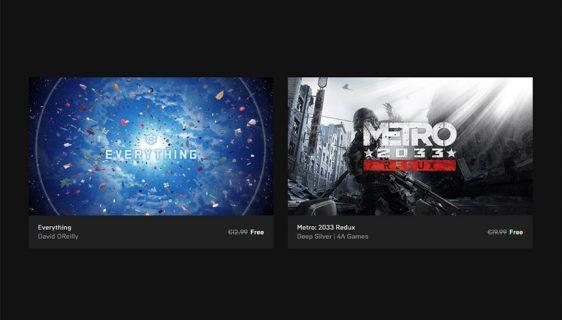 Preuzmite Everything i Metro 2033 Redux besplatno sa Epic Store-a