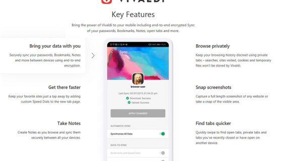Vivaldi browser za mobilne telefone