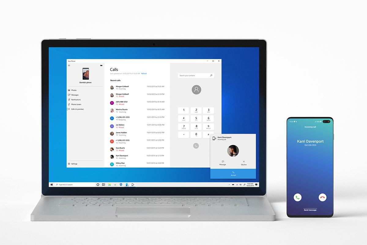 Windows aplikacija YourPhone za telefoniranje sa računara.jpg