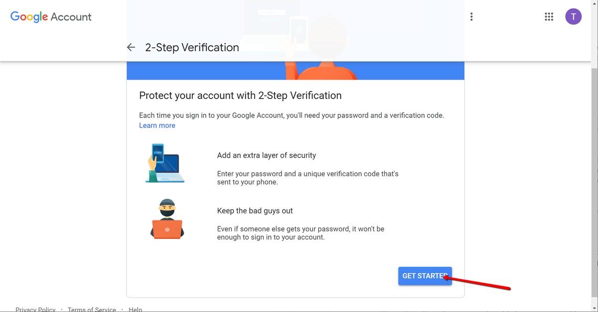 Aktiviranje dvofaktorske autentifikacije - Get started