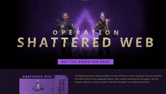 CS:GO operacija Shattered Web