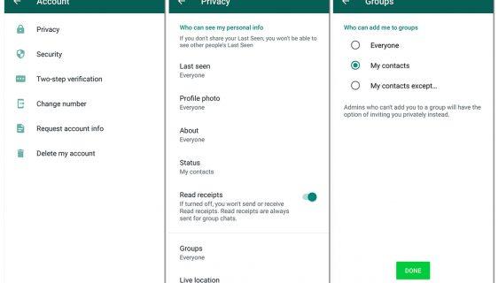 WhatsApp opcija za grupe