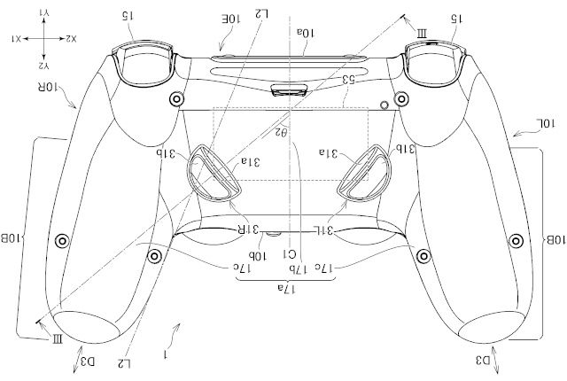 Patent dizajn za novi kontroler za PlayStation