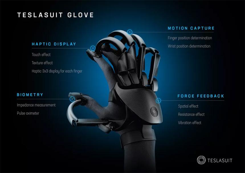 Teslasuit VR rukavice