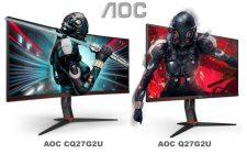 """AOC predstavio dva 27"""" G2 monitora - Q27G2U i CQ27G2U"""