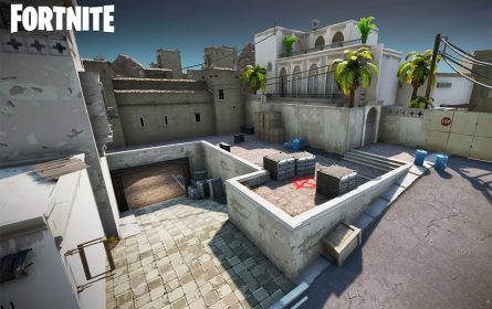 Dust 2 mapa za Fortnite