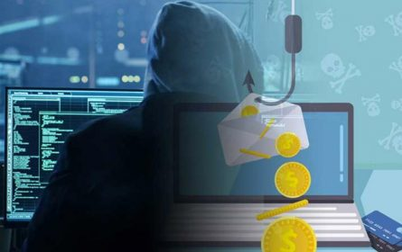 Hakeri - phishing ili fišing - ilustracija