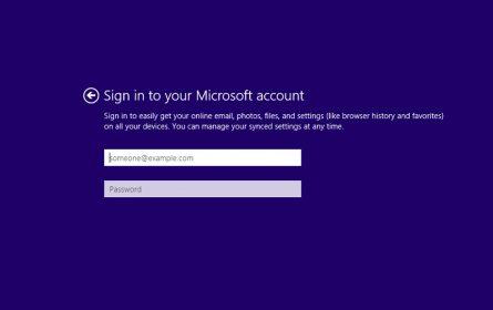 Prijava putem Microsoft naloga prilikom instalacije Windowsa 10