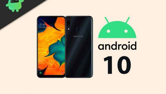 Samasung Galaxy A30 Android 10