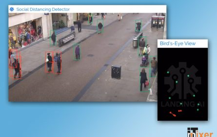 Landing Ai softver za detekciju društvenog distanciranja