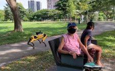 Robot koji patrolira parkom u Singapuru
