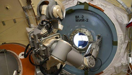"ovi ruski svemirski robot za projekat ""Teleroid"""