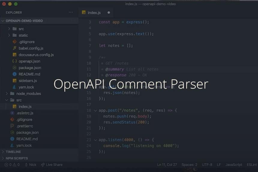 OpenAPI Comment Parser