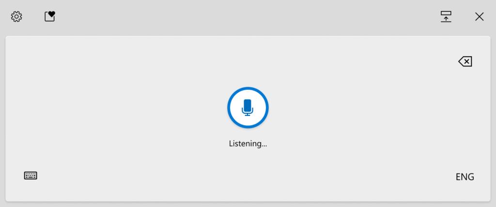 Windows 10 glasovni unos teksta - diktiranje