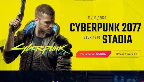 Cyberpunk 2077 će biti dostupan na Google Stadia od prvog dana