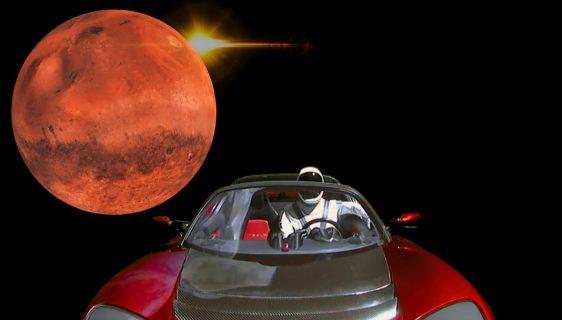 Teslin Roadster prvi put u blizini Marsa