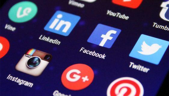 Ilustracija: društvene mreže - Facebook, Instagram, Linkedin, Pinterst, Twitter