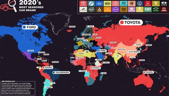 Koja je marka automobila najtraženija na google pretraz