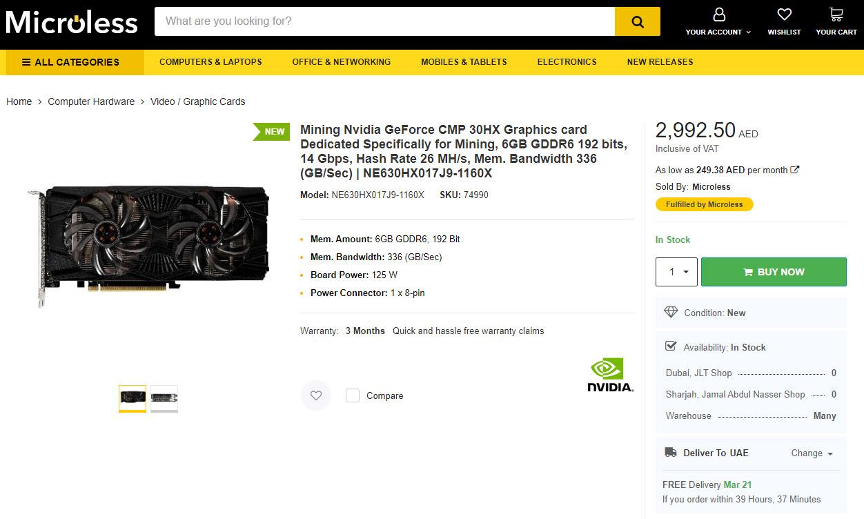 Microless počeo da prodaje CMP 30HX
